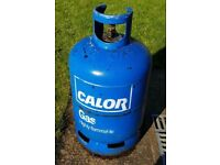 15kg empty butane blue Calor Gas bottle.