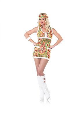 Sexy Far Out Hippie 60s Girl Halloween Costume (Hippie Girl Sexy Kostüm)