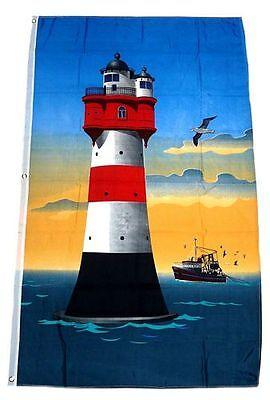 Flagge / Fahne Roter Sand Leuchtturm Hissflagge 90 x 150 cm