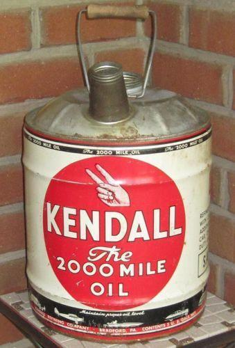 Vintage kendall oil can ebay for Kendall motor oil history