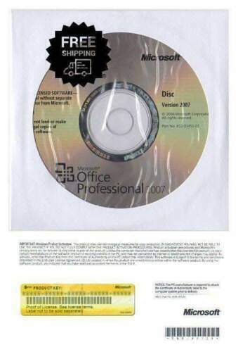 Office  Professional 2007 Full Ver CD