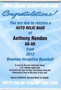 Anthony Rendon Bowman Auto