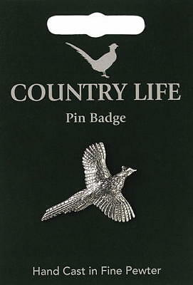 Pheasant Pewter Lapel Pin Badge