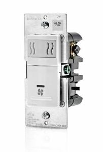 Leviton IPHS5-1LW Humidity Sensor and Fan Control, Automatically