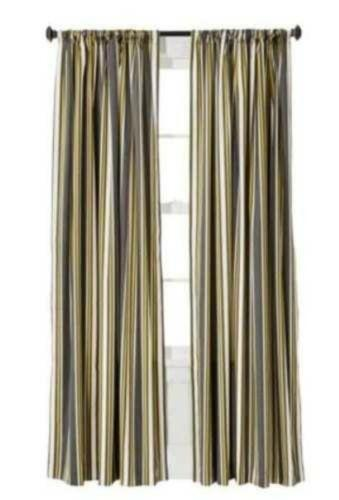 Grey Horizontal Striped Curtains