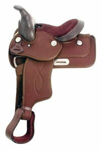 """10"""" 11"""" 13"""" 14 """" Western Pony Saddle Synthetic Brown Black NEW London Ontario image 2"""