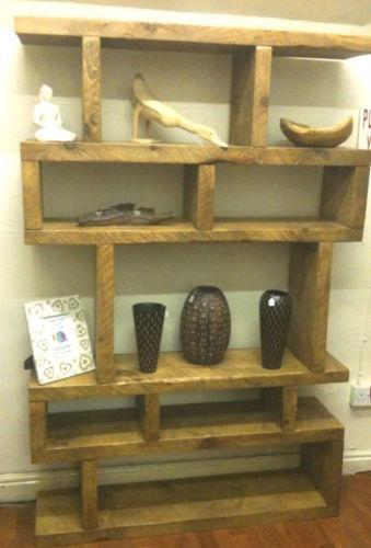 Chunky Rustic Shelf Bookcases Shelving Amp Storage Ebay
