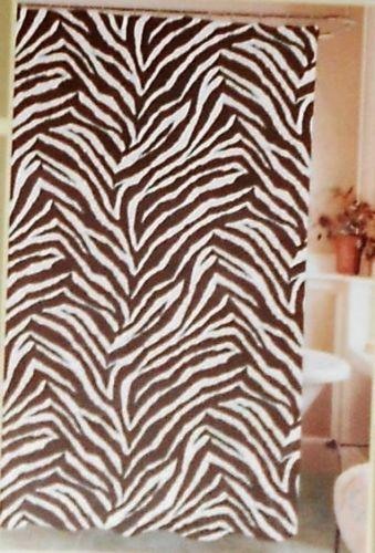 zebra print shower curtain ebay