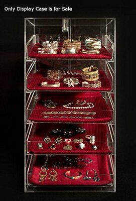5 Tier Acrylic Jewelry Display Case 12 W X 14 D X 23 H Inch With Removable Trays