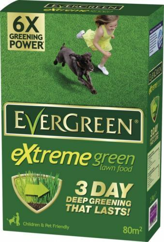 EverGreen Extreme Green Lawn Grass Food, Carton 80sqm (25% ExtraFree)