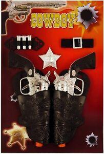 Twin-Cowboy-Gun-Holster-Fancy-Dress-Toy-Ranger-Bandit-Sheriff-Kids-Wild-West