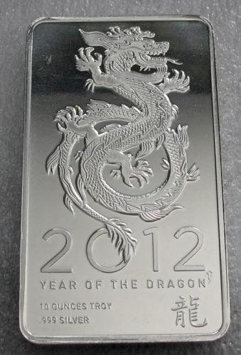 10 Oz Silver Dragon Bar Ebay