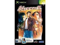 xbox original game shenmue 2 boxed good condition (rare collectable)