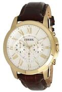 Mens Fossil Watch Leather Band