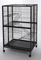 Grande cage pour furet / petits animaux Marshall Folding Mansion