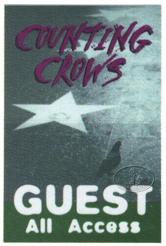 Counting Crows 1996 Backstage Pass Guest Green