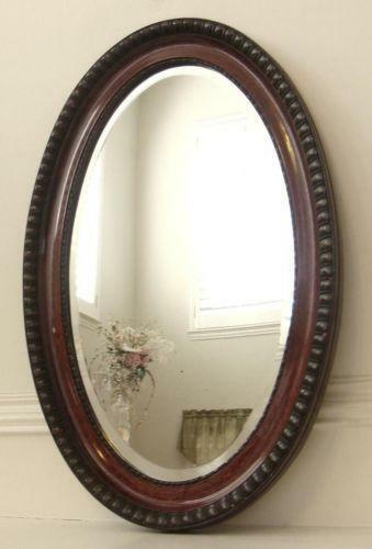 Antique Oval Beveled Mirror Ebay