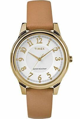 Timex TW2R87000 Women's Analogue Classic Quartz Watch with Leather Strap