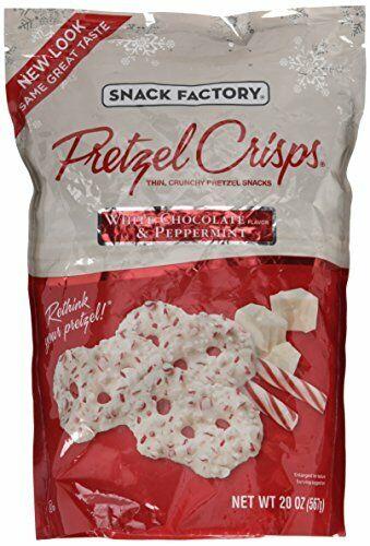 Snack Factory Pretzel Crisps White Chocolate & Peppermint Flavor - 20 Oz