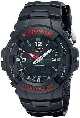 Casio G100-1B Men's G-Shock Ana-Digi Dual Time Black Resin Watch, usado comprar usado  Enviando para Brazil