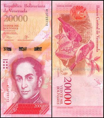 Venezuela 20,000 (20000) Bolivares, 2016, P-NEW, UNC Banknote / Currency