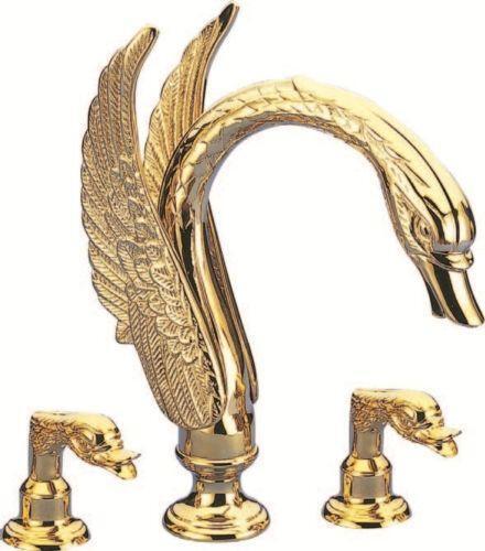 Gold Swan Faucet Ebay