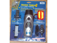 MAGIC TORCH 2 DUAL PURPOSE WIND UP UTILITY LIGHT CYCLE LAMP SET PHONE CHARGER SW