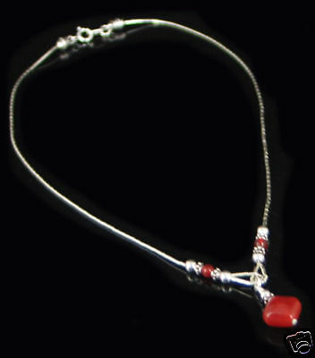 WHOLESALE 17 pc Necklaces 925 Sterling Silver Natural Carnelian Necklace LOT