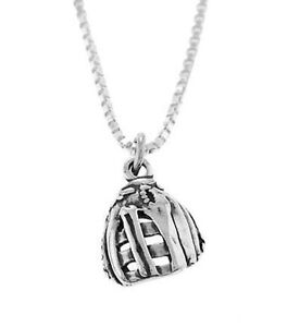 STERLING-SILVER-SOFTBALL-GLOVE-BASEBALL-GLOVE-CHARM-WITH-BOX-CHAIN-NECKLACE