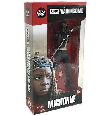 MICHONNE mit Base & Zubehör The Walking Dead Figur NEU OVP #2 v 8