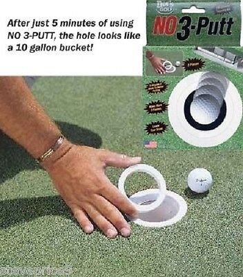 NO 3 PUTT HOLE REDUCER GOLF PRACTICE PUTTING AID