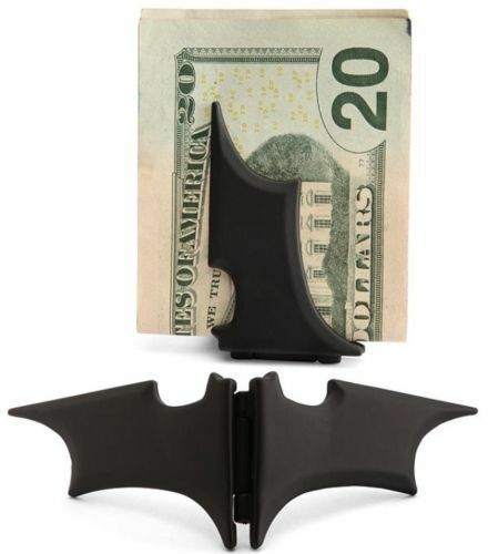 New Men's Batman Batarang Magnetic Money Clip in Black Or Go