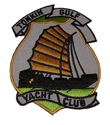 USN NAVY TONKIN GULF YACHT CLUB VIETNAM PATCH SEVENTH 7TH FLEET VETERAN JUNK