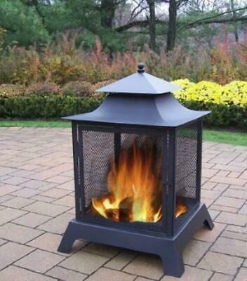 Oakland Living Fire Pits Steel Wood Burning Pagoda OAA2001 for sale  Hyde Park