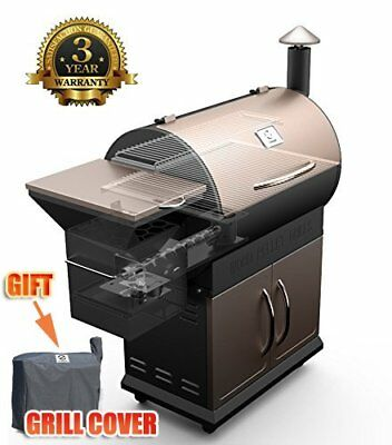 700SQ. in Wood Pellet Smoker BBQ Grill and Electric Pellet with Digital Controls