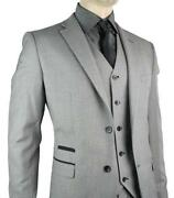 Mens Grey 3 Piece Suit