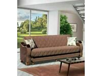 🤘🏻💓2020 CLOSEOUT SALE TURKISH DESIGN FABRIC STORAGE SOFA BEDS SETTEE BLACK BROWN GREY SOFABED