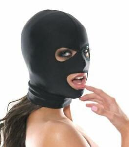 Stretchy-Black-Spandex-Hood-Full-Mask-Open-Eyes-Mouth