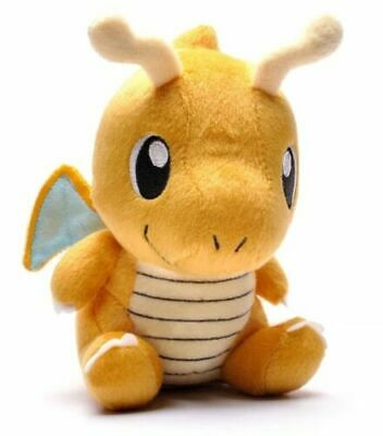 "7.5"" Dragonite Plush Stuffed Animal Doll Toy Pokemon Plushie US Stock"