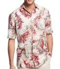 Silk Blend L Regular Size Hawaiian Casual Shirts for Men