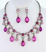 Crystal Teardrop Necklace
