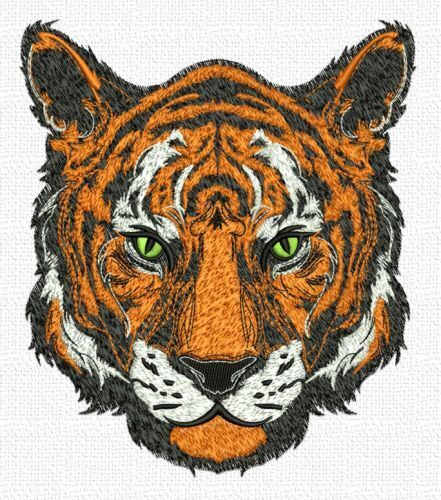"Tiger, Exotic Cat, Wild Animal, Embroidered Patch 7""x 8"""