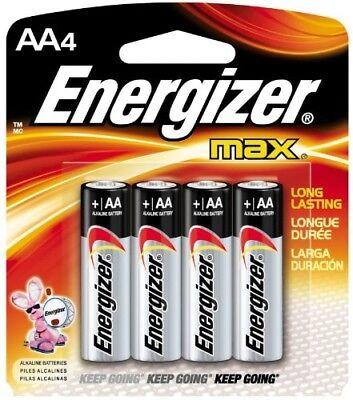 Eveready E91BP-4 Energizer Alkaline Battery Size Aa 1.5 V Blister Pack 4