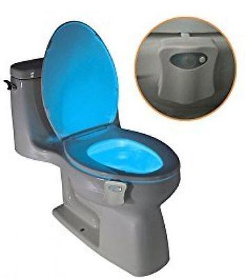 D01 Toilet Light Nightlight W  Motion Activated Sensor Glow In The Dark 8 Colors