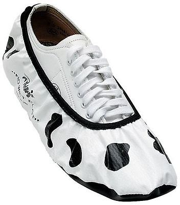 No Wet Foot Bowling Shoe Covers Protector Cow Print Dry Dog Size Small