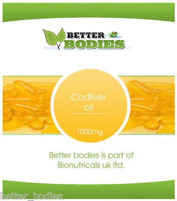 High Strength Cod Liver Oil 1000mg 365 Capsules Better