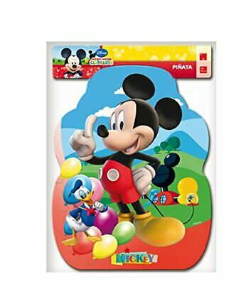 Disney Mickey Mouse Club House Pull String Pinata For Birthday Party 33 x 46cm - Mickey Mouse For Birthday Party