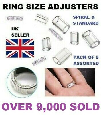 Ring Size Reducers 9 Piece set Ring Snuggies Snugs Clip Guard Resizer Adjusters