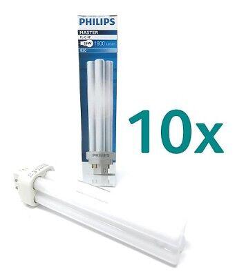 Leuchtmittel 3 Sockel G24q (10 x Philips PL-C 26W Energiesparlampe Warmweiß 3000K 2PIN G24Q-3 Sockel )