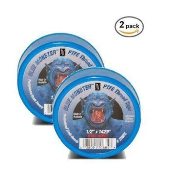 2 Pack- Milrose 70885 Blue Monster 12 X 1429 Blue Teflon Tape